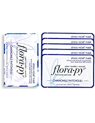 Florapy Beauty Stress Relief Sheet Aromatherapy Mask, Chamomile Patchouli, 5 Count