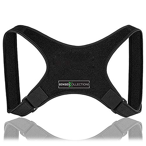 Back Posture Corrector for Men and Women Discreet Under Clothes Comfortable and Effective Clavicle Brace for Neck Shoulder Back Pain Relief Fully Adjustable Spinal Brace for Slouching Hunching FDA