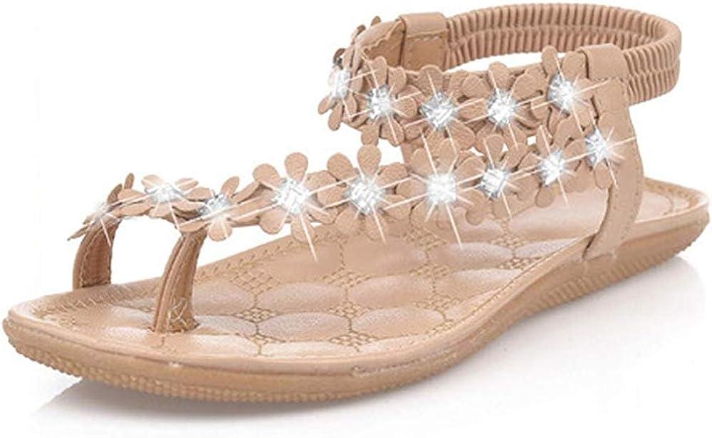 Rhinestone *SALE*Crystal Bling Floral FlipFlop Beach Sandal Gladiator Sz 37,4 ❤️