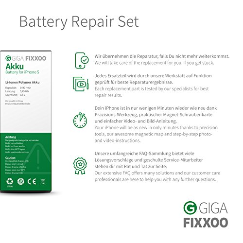 GIGA Fixxoo iPhone battery in complete set replacement for changing and...