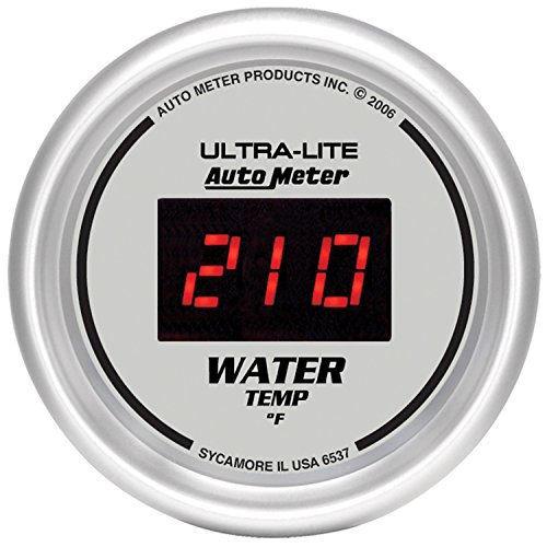 "Auto Meter 6537 Ultra-Lite Digital 2-1/16"" 0-300 Degree F Digital Water Temperature Gauge"