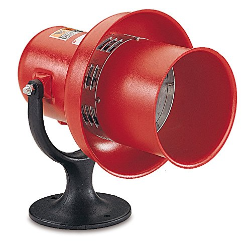 Federal Signal L-120 General Alarm Electro-Mechanical Siren, Swivel Mount, 120 VAC/DC, Red