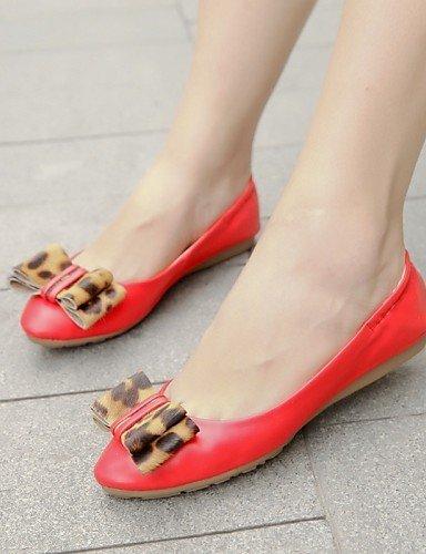 Mujer Zapatos 7 Planos Eu39 Punta Zq Casual Tac¨®n Eu37 Rojo Cn37 Semicuero Uk6 Beige Plano 5 Yyz De Uk4 5 us8 us6 5 Red Cn39 Beige Redonda 1585Zwqtx
