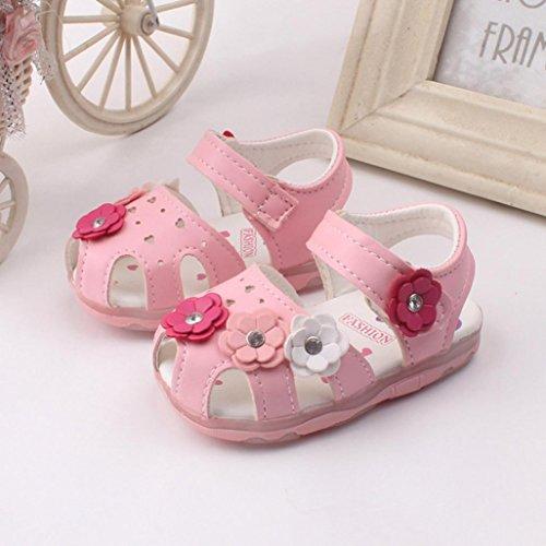 Tefamore Sandalias Encendidas Soft-Soled Princesa Zapatos Toddler Nuevo Girasol Chicas(Luz) Rosa2