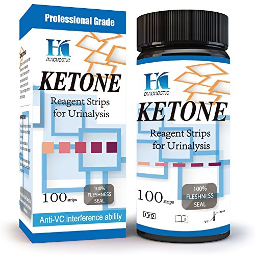 HK Ketone Test Strips - 100 Urine Strips - Check Ketosis Levels - Track Your Low Carb/high Fat Butter Coffee Diets
