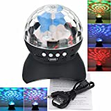 YARKOR Disco Ball Party with Bluetooth Speaker, DJ lights with Remote Control for Party and Family Gathering,Colourful,Wonderful,Mini Led Stage Lights(with Remote)