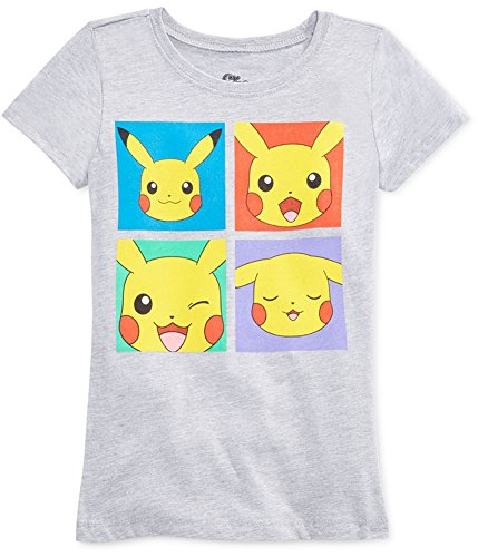 Buy mighty fine girls pikachu faces graphic t-shirt