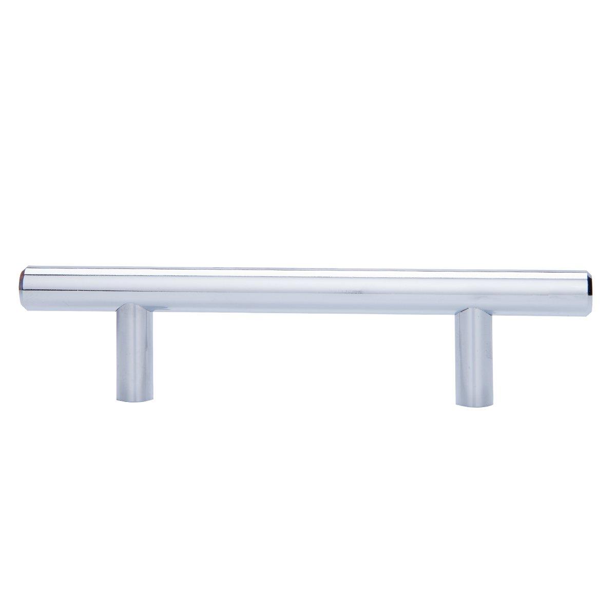 N/íquel satinado Satin Nickel tipo europeo Basics AB1504-SN-10 Tirador de armario en forma de barra centro del orificio de 12,7 cm 18,74 cm de longitud