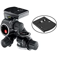 Manfrotto 410 Junior Geared Tripod Head with Quick Release and a Bonus Ivation Quick Release Plate