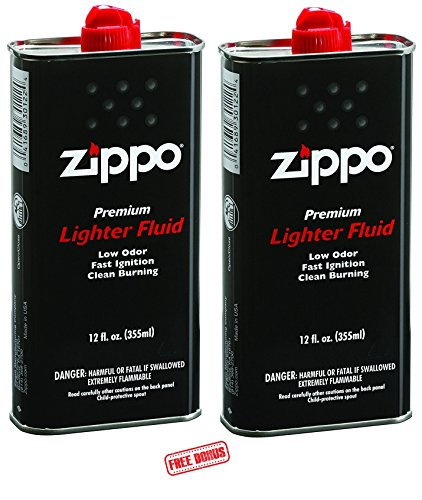 Zippo Lighter Fluid 12 oz. 2 Pack - 6 Pinkleaf Greeting Cards Included!