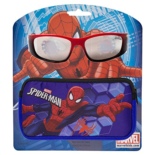 Marvel Spiderman Kids Children Boys Sunglasses with Soft Carrying Case