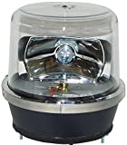 North American Signal 112HR-ACC Halogen Rotating Beacon, Permanent Mount, Clear