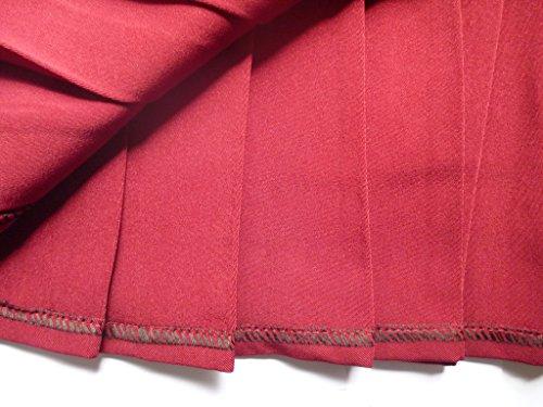 Beautifulfashionlife Mujer Talle Alto plisado Cosplay disfraces faldas de Japón rojo vino