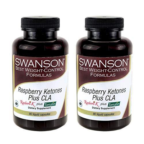 Swanson Raspberry Ketones Plus Cla 90 Liq Capsules (2 Pack)