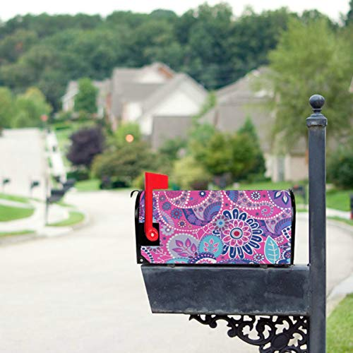 (HTJZH Brightly Colored Bacteria Mailbox Covers Standard Size Original Magnetic Mail Cover Letter Post Box 21