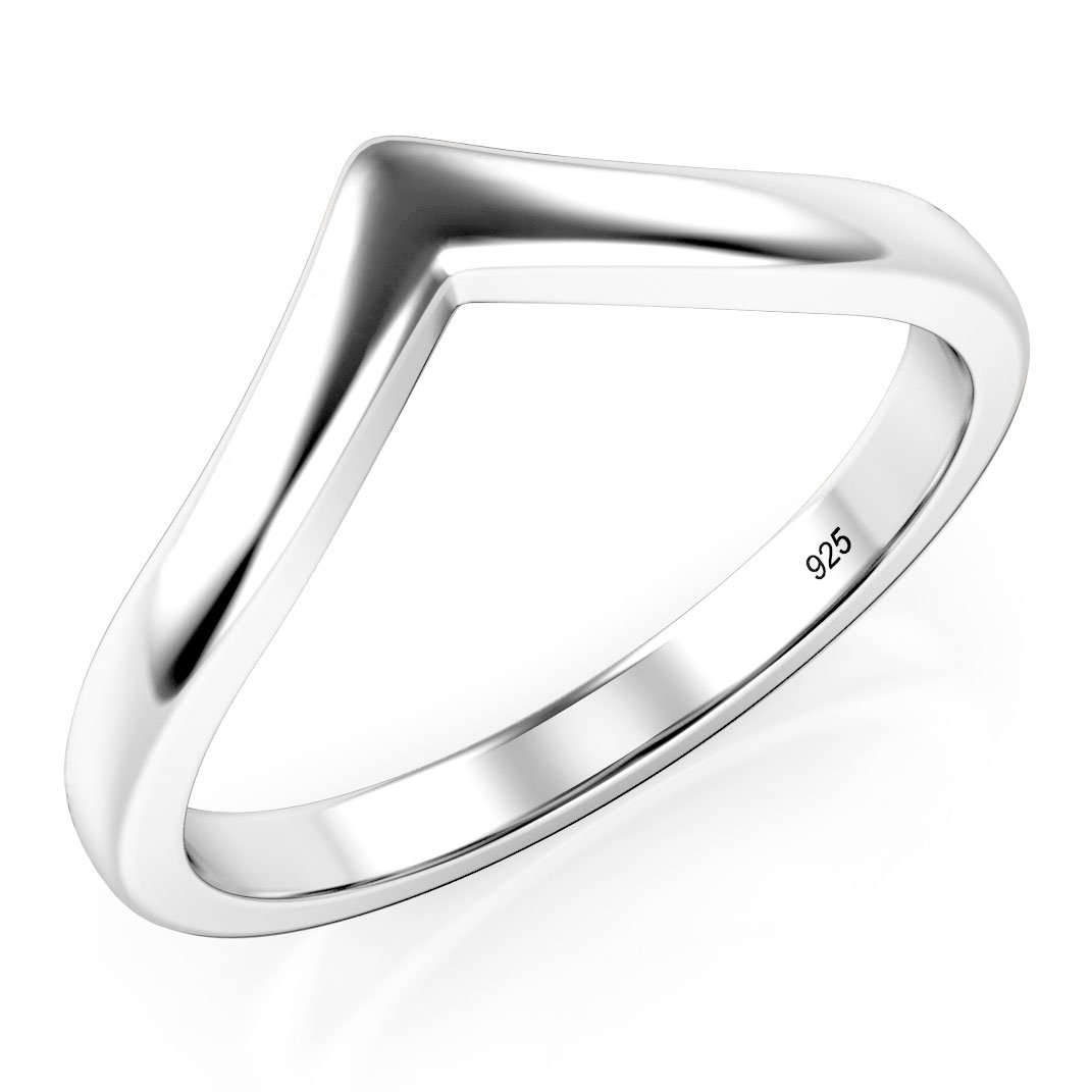 Metal Factory Sz 7 Sterling Silver 925 Chevron Stackable Ring