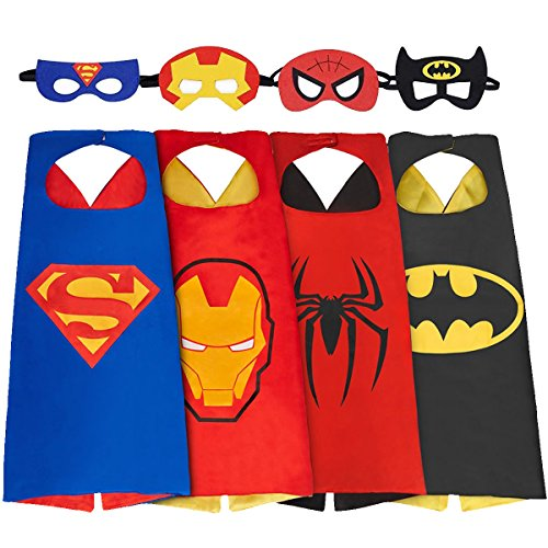 NAGNACA Comics Cartoon Hero Costumes Toddlers Cape and Mask for Kids (Black Panther Mask Marvel compare prices)