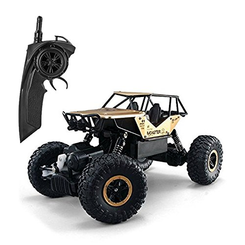 FSTgo RC Cars Metal Shell Off-Road Vehicles Radio Controlled Trucks Remote Control Rock Crawler 2.4Ghz 4WD Toy Racer (gold) from FSTgo
