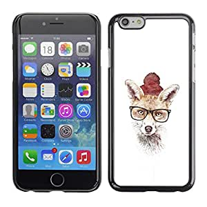 YiPhone /// Prima de resorte delgada de la cubierta del caso de Shell Armor - Hipster Fox lindo - Apple Iphone 6 Plus 5.5