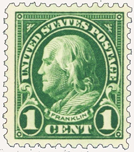 (Series of 1922-25 1 Cent Benjamin Franklin Mint Never Been Hinged Stamp Scott 552 By USPS)