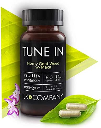 Horny Goat Weed with L-Arginine and Maca Root - Natural Energy Complex Supports Stamina, Performance and Energy - Non-GMO - 60 Capsules