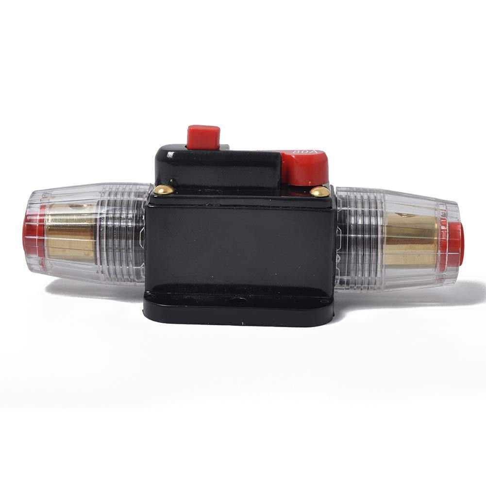 Ocamo 100 Amp In-Line Circuit Breaker Stereo//Audio//Car//RV 100A//100AMP Fusible 12V