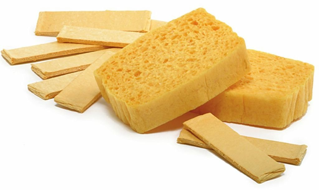 Norpro Natural Sponges Pop-Up 12 Piece New Handy For Kitchen Drawer Glove Box