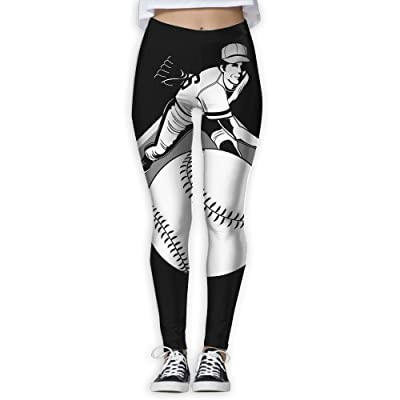 Baseball Pitcher Women's Compression Pants Sports Leggings Tights Baselayer Trousers For Yoga&Fitness