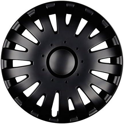 Schwarz-Wei/ß Farbe Cyrkon 4er Set Premium Radkappen Radzierblenden Radblenden Modell Felgendurchmesser:16 Zoll