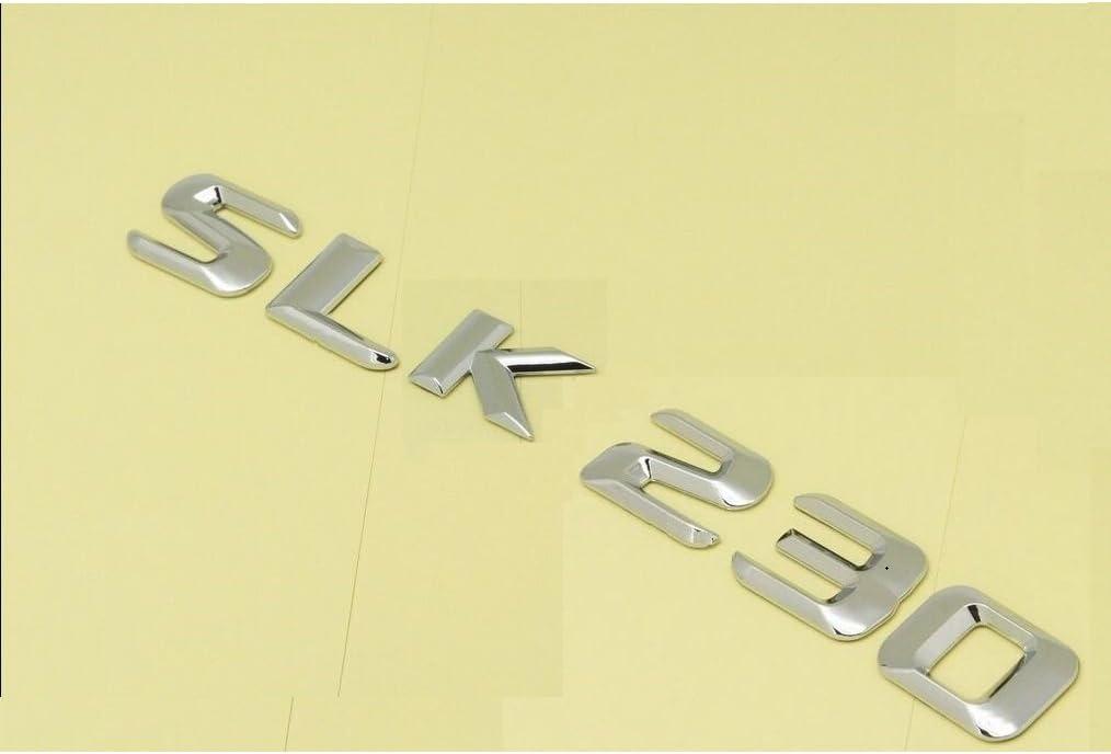 Black Number Letters Trunk Emblem Sticker for Mercedes Benz SLK Class SLK230