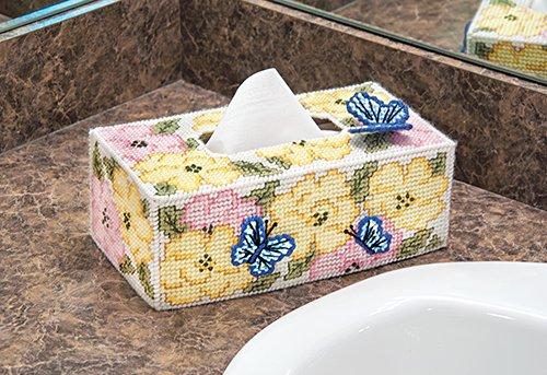 Rose Garden Tissue Box Plastic Canvas Kit