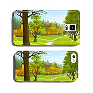 Pathway through a blissful forest cell phone cover case Samsung S5