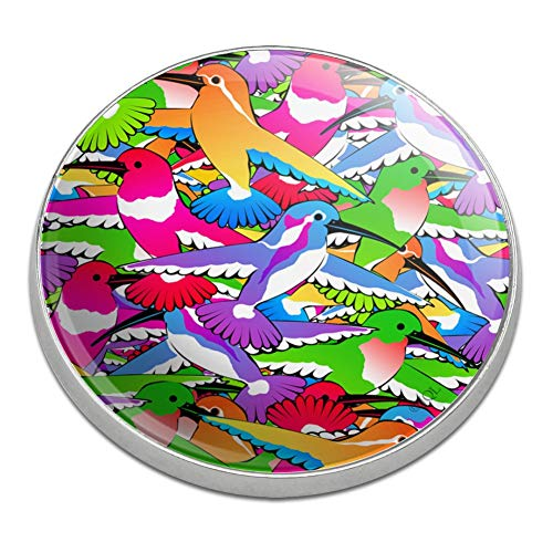 GRAPHICS & MORE Hummingbird Colorful Pattern Golfing Premium Metal Golf Ball Marker