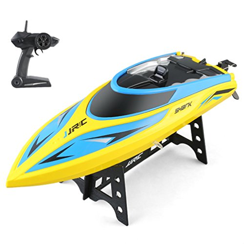 ALLCACA Remote Control Boat for Pools and Lakes - 2.4Ghz High Speed RC Boat - 4 Channels Electric Boat for Kids & Adults
