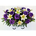 Easter-Lilly-Purple-Rose-Cemetery-Saddle-for-Grave-Decoration-at-Easter-or-Mothers-Day