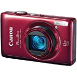 Canon PowerShot ELPH 510 HS 12.1 MP CMOS Digital Camera with Full HD Video and Ultra Wide Angle Lens (Red)