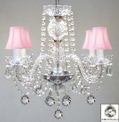 Murano venetian style all crystal chandelier w crystal balls and murano venetian style all crystal chandelier w crystal balls and pink shades aloadofball Image collections