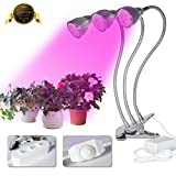 LED Plant Grow Light 15W Desk Grow Lamp with 360-degree Flexible Gooseneck for Indoor Plant,Potted Plants,Hydroponic,Greenhouse