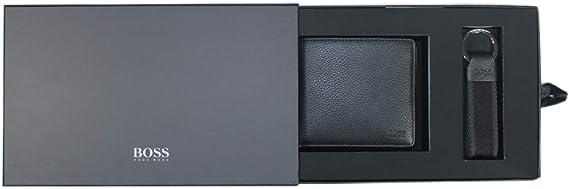 Boss, Hugo Boss, Set de Regalo, Monedero 4 CC Coin Plus, Llavero de Llave, Color Negro: Amazon.es: Equipaje