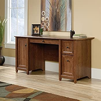 Amazon Com Sauder Palladia Computer Desk Cherry Kitchen
