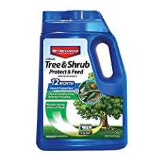 Bayer Advanced Tree & Shrub Protect & Feed Granules provides 12-month long lasting systemic protection against damaging insects including Adelgids, Aphids, Borers, Japanese Beetles, Leaf miners, Scale and Whiteflies plus feeds in a si...