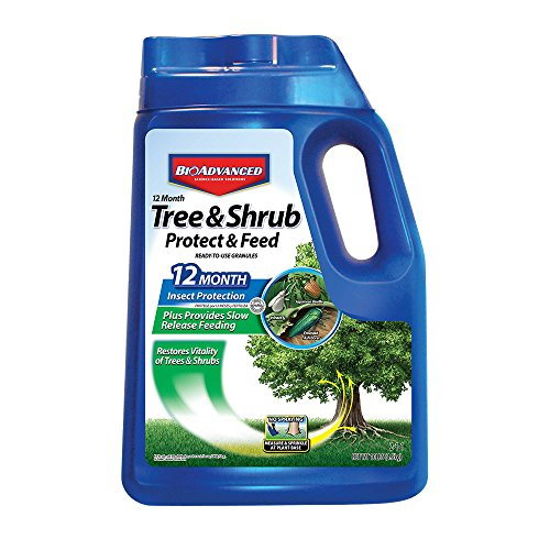 - Bayer Advanced 701910 12 Months Tree and Shrub Protect and Feed Granules, 10-Pound