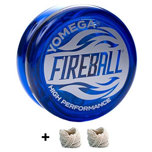 Yomega Fireball - High Performance Transaxle Yoyo, for Intermediate, Advanced and Pro Level. + Extra 2 Strings & 3 Month Warranty (Blue) ()