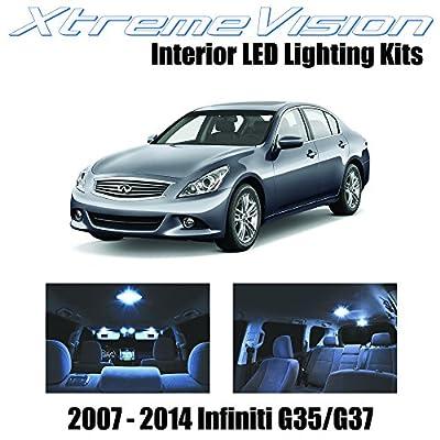 XtremeVision Interior LED for Infiniti G35 G37 Sedan 2007-2014 (11 Pieces) Cool White Interior LED Kit + Installation Tool: Automotive