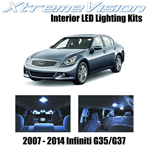 XtremeVision Infiniti G35 G37 Sedan 2007-2014 (11 Pieces) Cool White Premium Interior LED Kit Package + Installation Tool