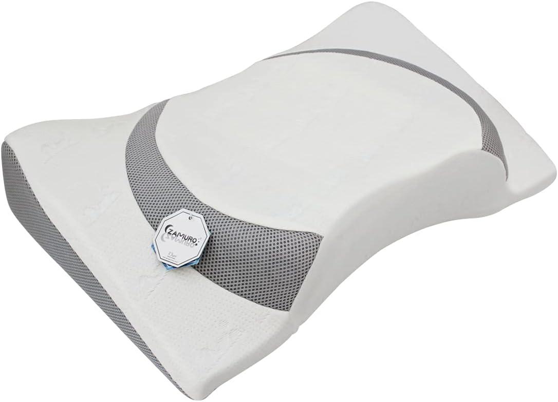 Mymi Zamuro Apple 4D Functional Memory Foam Beauty Pillow for a Pleasant Sleep (Grey)