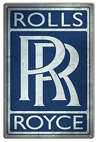 aged-looking-blue-rolls-royce-gas-station-sign