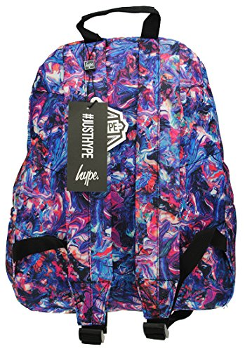 Hype Rucksack Taschen Rucksäcke – Schulranzen – viele neue Farben & Designs – wählen Sie Ihre Favoriten aus 40 Styles, Speckled Black/Navy Blue (Schwarz) - Hype bag (Splatter Embroid) Paint Swirls