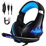 DeepDream Stereo Gaming Headset for Xbox One, PS4, Nintendo Switch and PC, with Noise Cancelling Mic, Led Lights, Volume Control