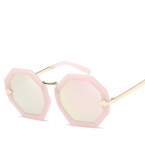 Mode Polarisierte Gläser Retro Sonnenbrille , Goldrahmen Roségoldpuder